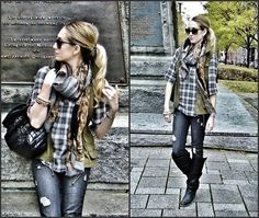 Love bag, scarf, Frye Boots