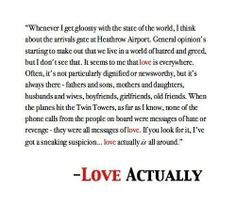 It's the Love Actually
