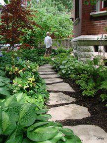 shade garden path.. I love pathways <3