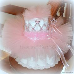 princess cakes babyshower | Tutu Diaper Cake Baby Shower Centerpiece Pink Girl Princess