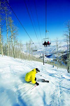 Skiing Park City Mountain Resort, Utah