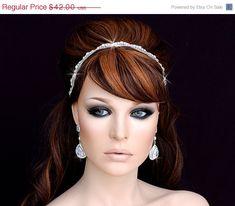 SALE  Beaded Headband  Wedding Headband  Beaded by EleganceByKate, $37.00