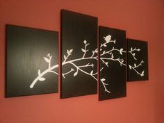Perched bird canvas painting
