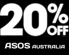 Voucher code for 20% OFF for Australia http://asos-promo-code.co.uk/20-off-on-asos-for-australia-probably/