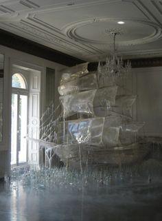 Ice sculpture by Rhea Thierstein.