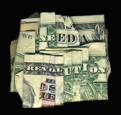 backyard ideas, paper, life lessons, revolutions, money origami