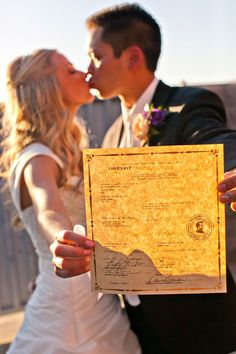 Take a photo with your marriage license, must!
