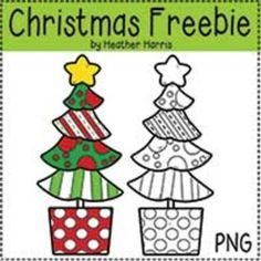 Christmas Tree Freebie {Commercial and Personal Use}