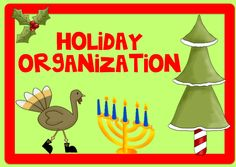 Teach123: Holiday Organization