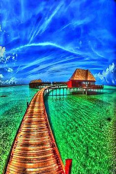 Bora Bora, Tahiti.  Ooooh yes . . .