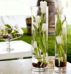 A simple centerpiece - callas?