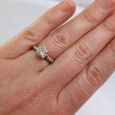 PLATINUM ART DECO 1.30 ct Diamond with by BritanniaJewelry on Etsy, $3400.00