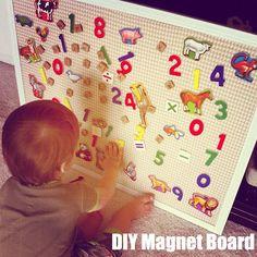 Our Love and Our Blessing: DIY Magnet Board child room, gingham, diy magnet, diy crafts, children, magnetic boards, magnet boards, diy home, board diy