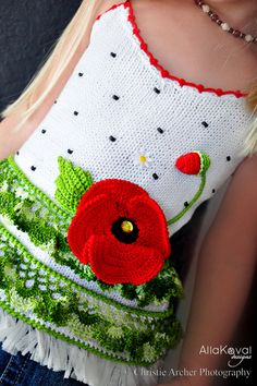 Crochet Pattern Poppy Tank Top