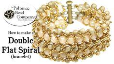 Make a Double Flat Spiral Bracelet