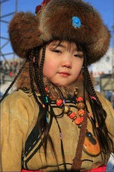 face, beautifi thi, little princess, mongolian babi, children, mongolian girl, cultur color, beautiful ethnic people, kid