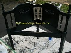 this was made from an old headboard ~ my repurposed life gives a great tutorial ~ i'm impressed