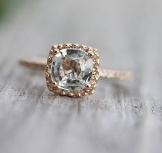 most perfect rose gold engagement ring? i do think so. #engagement #ring #rosegold etsy.com/eidelprecious