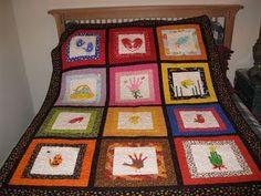 Seasonal handprint quilt