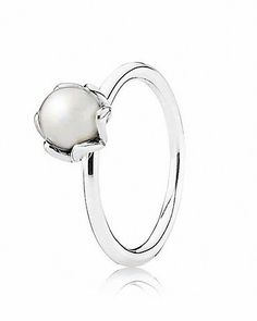PANDORA Ring - Sterling Silver & Pearl Cultured Elegance