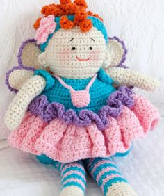 Tooth Fairy Doll Free Crochet Pattern from Red Heart Yarns