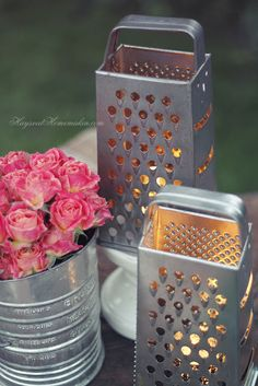 These #DIY lights are perfect for your garden or #wedding - insert a #battery operated tea light and illuminate the area in style.