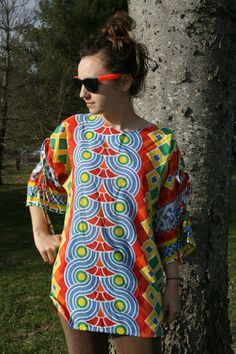 Shirt Colorful Tribal Cultural Therapist Tunic by HalfSkyCovered, $25.00