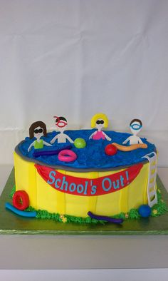 Swimming pool cake by Little Sugar Bake Shop, via Flickr