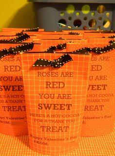 Hot cocoa valentines! Cute!