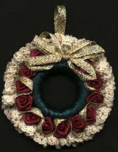 rose wreath, victorian rose, wreath ornament