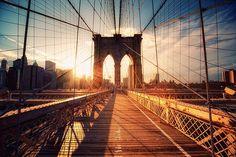 newyork brooklyn bridge, sunset, sunris, bridges, blog, big city, place, light, walk
