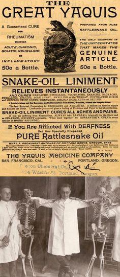 A Snake Oil Liniment Bottle