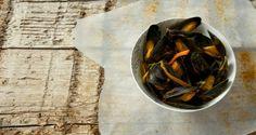 Mosselen met curry en groenten
