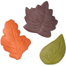 Fall Leaves Shaped Icing Decorations by Wilton