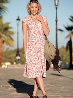 Women's Bella Coola Dress | Sahalie...comfy with empire waist easy care