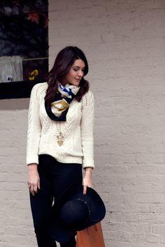 Sweater and scarf...kendi