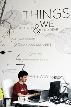 """Great caption by the OP: """"Walls are not walls, they are spaces of inspiration."""" We could use something like this in WeBRAND HQ."""