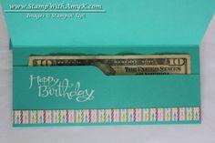 Sassy Salutations. Envelope punch board money holder tutorial. #SU