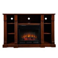Southern Enterprises Kendall 52 in. Media Console Electric Fireplace in Espresso-FE9386 at The Home Depot