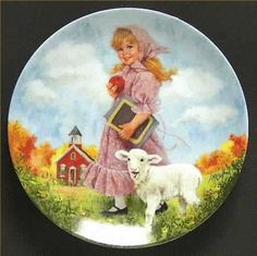Mary had a Little Lamb- plate