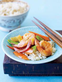 Slow-Cooker Shrimp Stir-Fry #myplate #slowcooker