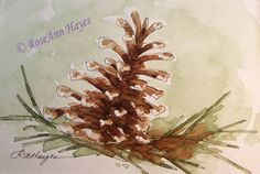 Paint a wc pine cone