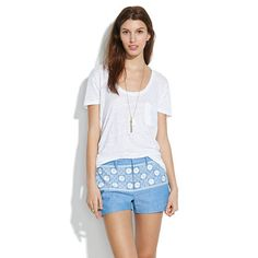 Madewell - Chambray Sunstitch Shorts