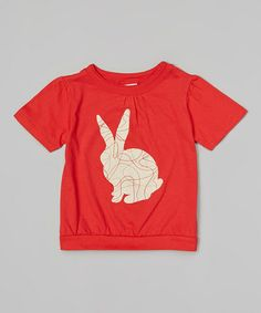 Loving this Red Bunny Organic Tee - Toddler & Girls on #zulily! #zulilyfinds