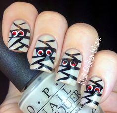 Some Mummy Like You nail art. #nailpolishwars