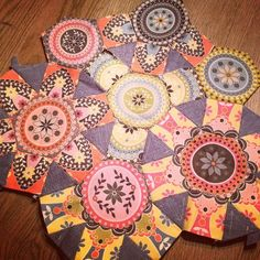 Spring Carnival english paper piecing, quilt, hexagon