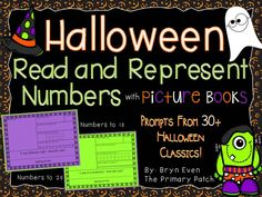 Incorporating Literacy into Math lessons for younger learners has never been easier!  Use sentence starters from over 30 classic Halloween picture books to create adorable Halloween Number Booklets. Skills covered: writing the number word, showing the number using tally marks, showing the number in a ten frame, showing the number on a number line, drawing a picture representing the number