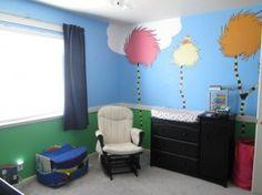 literatureinspir bedroom, baby dr seuss bedrooms, nurseries, lorax room, bedroom grow, suess nurseri, loraxinspir bedroom, childs bedroom, lorax nurseri