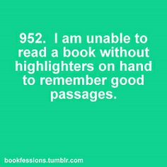 ~ Highlighting Only in Self Help Books