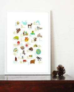 French Nature Themed Alphabet 11x14 Poster by ChildrenInspire, $28.00